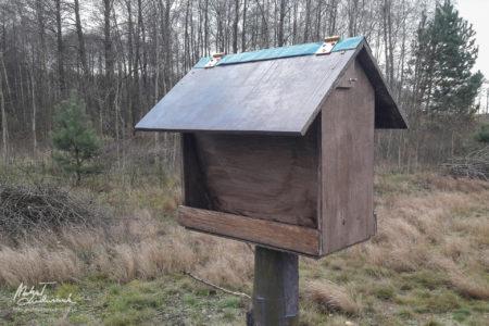 Nowy karmnik dla ptaków już stoi