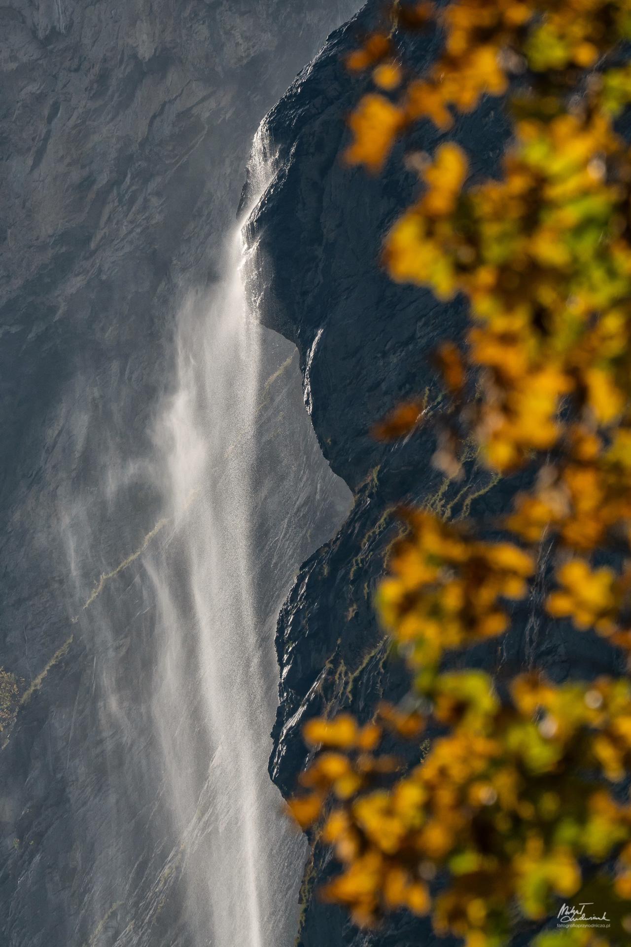 Wodospad Staubbachfall w Lauterbrunnen
