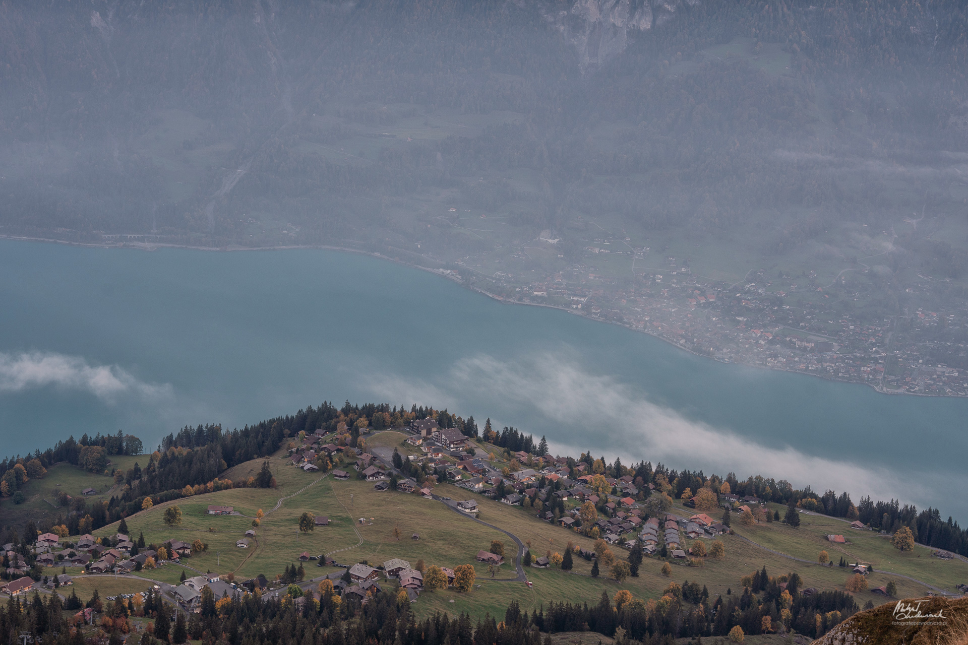 Widok z Tschingel na Axalp i Brienz