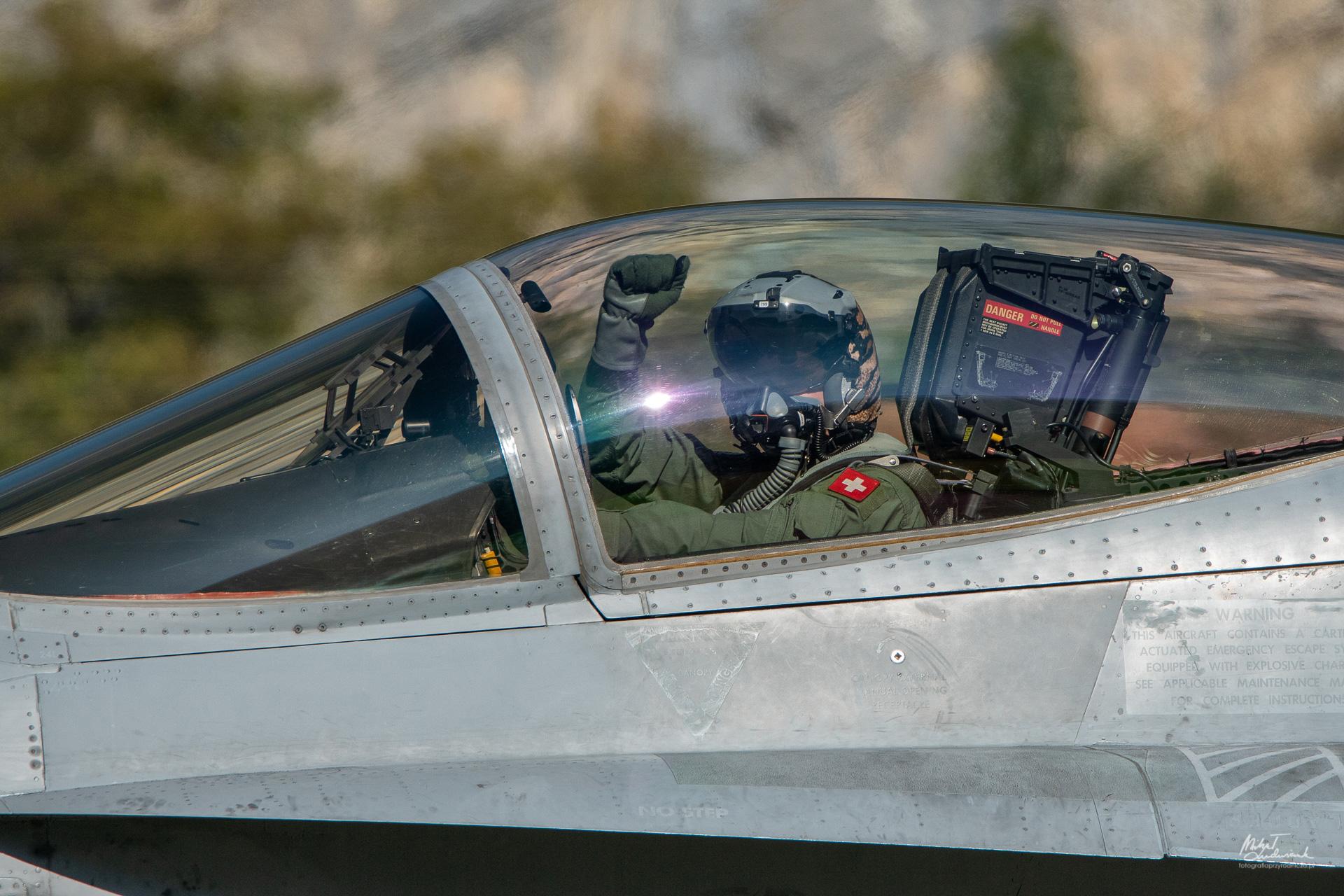 Dowódca eskadry przed startem